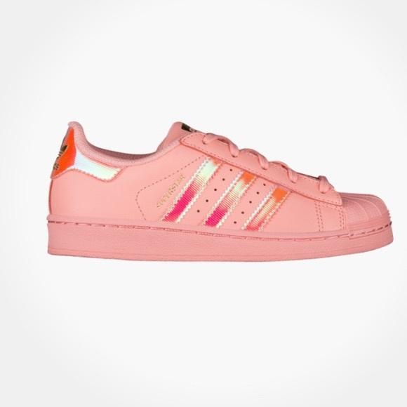 2019 original venta más caliente nuevo alto adidas Shoes | Superstar Original Coral Iridescent | Poshmark